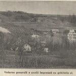 Vedere generală a şcolii şi a grădinilor